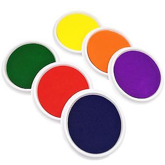 Almohadilla de sello de tinta de mano, tinta lavable de la palma del dedo, graffiti colorido para, los niños