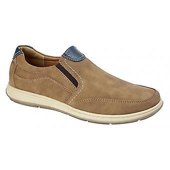 Scimitar Otis Mens Casual Slip On Shoes Tan