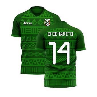 Meksiko 2020-2021 Home Concept Football Kit (Libero) (CHICHARITO 14)