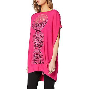 Desigual TS_Sola T-skjorte, Rød (Neon Pink 3098), Medium Woman