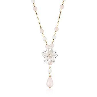 MISIS Women's Necklace Marisol Silver 925 Agate Multicolore 50.5 cm - CA07498R
