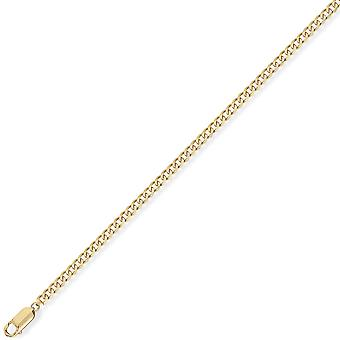 Jewelco London 9ct Yellow Gold - Premium Quality Curb Pendant Chain Necklace - 2.1mm gauge