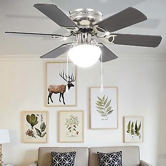 vidaXL Ventilateur de plafond décoratif avec ampoule 82 cm brun foncé