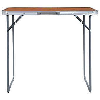 vidaXL Opvouwbare kampeertafel met metalen frame 80 x 60 cm