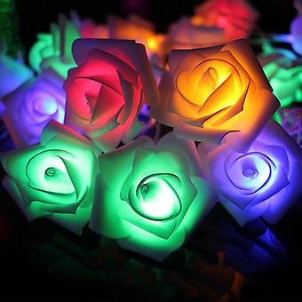 New 100 Led 10 Meters String Flower Lamp Rose Garland Lampion Light Colorful ES7633