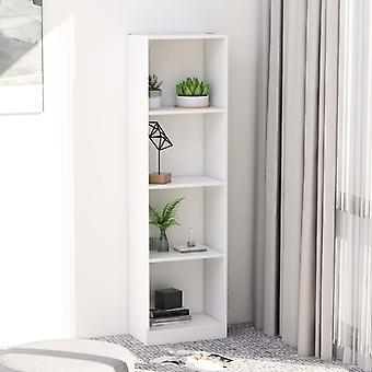 Estantería con 4 estantes 40x24x142 cm aglomerado blanco