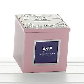 Rosa baby pengar box ram