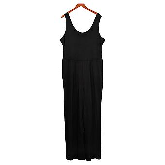 Anybody Jumpsuits Tall Cozy Knit Tank Black One-Piece A374515
