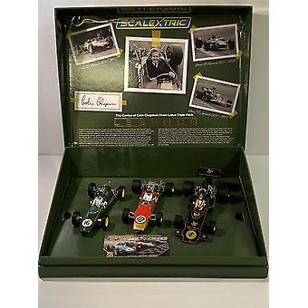Scalextric C4184A Colin Chapman Lotus F1 Triple Setin nerokkuus