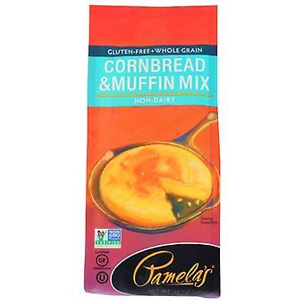 Pamelas Mix Corn Bread & Muffin, Case of 6 X 12 Oz