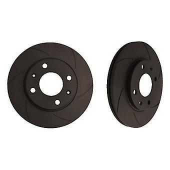 Disques de frein Diamant Noir 6KBD1165G6 Solide arrière 6 Rayures