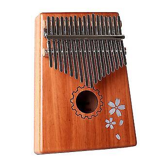 קלימבה אגודל פסנתר 8 מקשים סאקורה משובץ דפוס כלי נגינה נייד לילדים