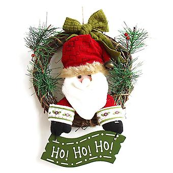 Santa Claus Kerstkrans Slinger Xmas Decoratie 30cm 1pc