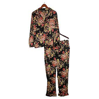 Coleção Tolani Women's Printed Pajama Set Black A390127