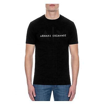 Armani Exchange A x Logo T-shirt Svart