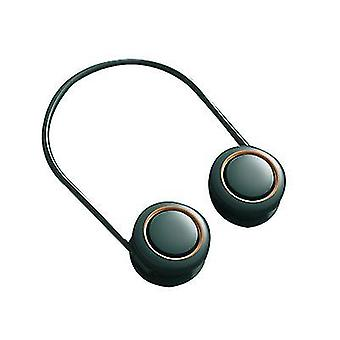 Hängender Halslüfter, Kopfhörerdesign, klingenloser Lüfter (Grün)
