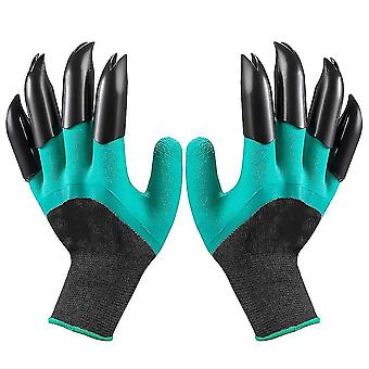Digging Gloves Gardening Dipping Labor Protection Paws Garden Planting Vegetable Flower(Green)