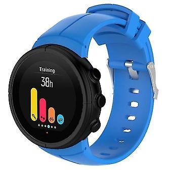 Vervangende siliconen horlogeband voor SUUNTO Spartan Ultra lichtblauw