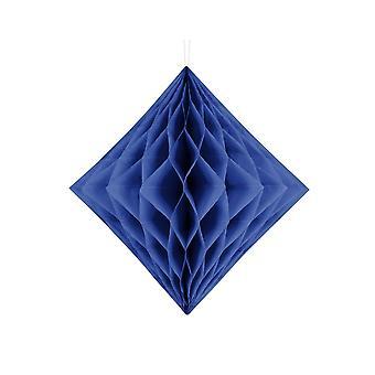 LAST FEW - 30cm Navy Blue Diamond Honeycomb Paper Party Decorations