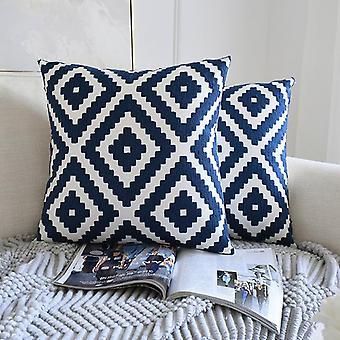 Tyynyliinat kiinalainen klassinen koti sohva tyyny pyyhe kirjonta sininen ja valkoinen posliini kirjonta sarja