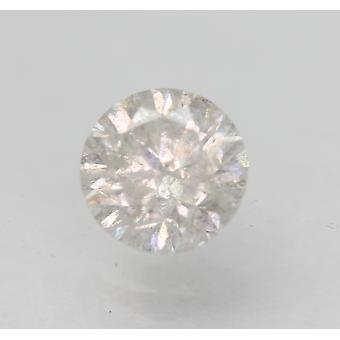 Certified 0.63 Carat F SI3 Round Brilliant Enhanced Natural Loose Diamond 5.35mm