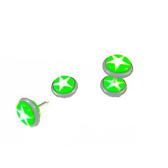 Fake Plugg Stjärna - Grön och vit