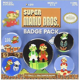 Супер Марио значок набор (пакет из 5)