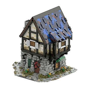 クリエイターストリートビュービルディングブロック古代建築モック中世の鍛冶屋の店のモデルレンガDIYおもちゃ子供のxmasギフト