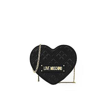 Love Moschino Gewatteerd Hart Black Crossbody Tas
