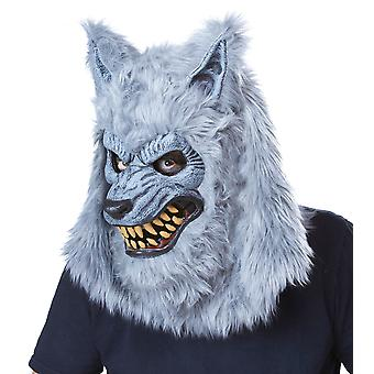 Blood Moon Grey Werewolf Ani-Motion Mask deluxe Overhead Mask
