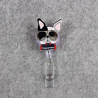 Cute Acrylic Dog & Cat Retractable Badge Reel