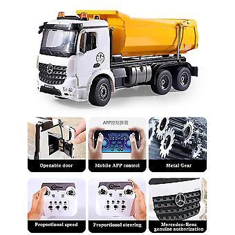 Remote control cars trucks 1/20 alloy rc truck 2.4G remote dump trucks tractor cars on radio station toy boys|rc trucks white