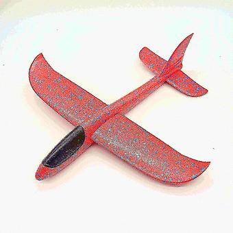 Toy airplanes diy children's hand throwing flying aircraft glider toy 30cm red