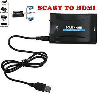 SCART HDMI-sovittimeen 1080P Video Audio Hyväpalkkainen Muunnin USB-kaapeli TV DVD: lle