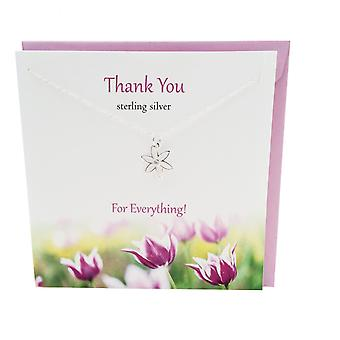 Thank You Pendant Card by The Silver Studio