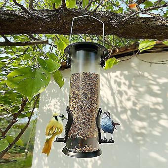 Hanging Wild Bird Seed Feeder Bird Food Dispender Feeding Tool Outdoor Garden Yard Outside