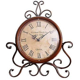 Desk Clock Retro Alarm Clock For Bedroom Vintage Silent  Iron Table Clock
