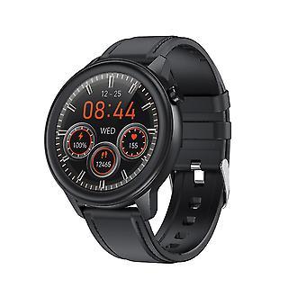 Inteligentny zegarek Qian dla Unisex z zegarkiem sportowym Ip68 Wodoodporny 1,3-calowy pełny ekran dotykowy z monitorem tętna Wiadomość Powiadomienie Monitor snu Pogoda