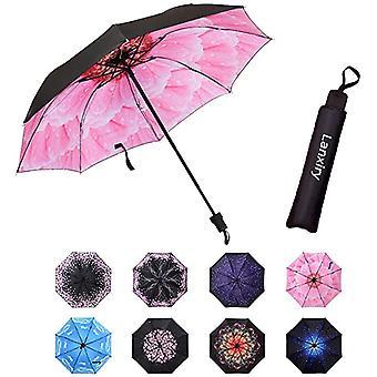 Compact Travel Umbrella,windproof Waterproof Stick Umbrella Anti-uv Protection Golf Umbrellas