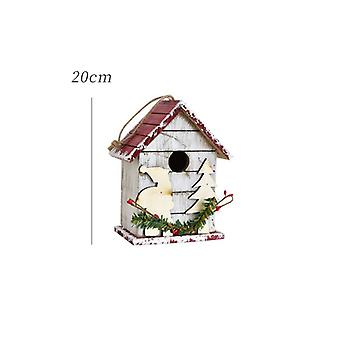Christmas Outdoor Wood Christmas Party Decoration Handmade Wooden Craft Mailbox Home Decor