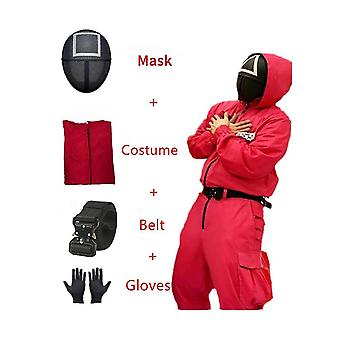 Squid Game Cosplay Costume Carnival No.067 And Red Suit,squid Game