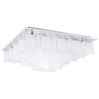 Eglo CONDRADA pływający kwadrat szkło lampa sufitowa