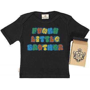 Spoilt Rotten Funky Little Brother Babys T-Shirt 100% Organic In Milk Carton