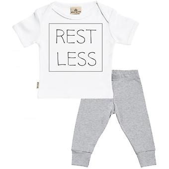 Spoilt Rotten RESTLESS Baby T-Shirt & Baby Jersey Trousers Outfit Set