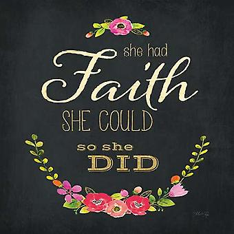 She Had Faith Poster Print by Marla Rae (12 x 12)