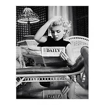 Marilyn Monroe elokuva päivittäin NYC 1955 Juliste Tulosta Michael Ochs arkiston (16 x 20)