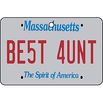 Massachusetts - beste tante lisens Plate bil Air Freshener