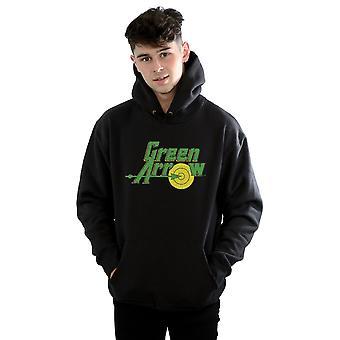 DC Comics mäns grön pil spraka Logo Hoodie