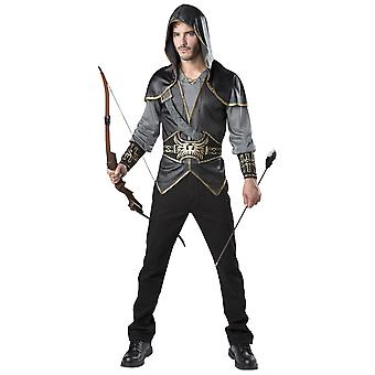 Hooded Huntsman Snow White Medieval Hunter Renaissance Robin Hood Mens Costume