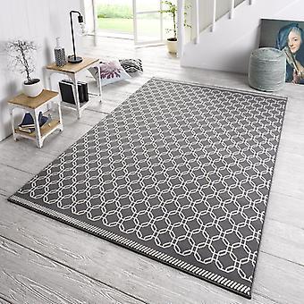 Designer velour carpet chain grey cream
